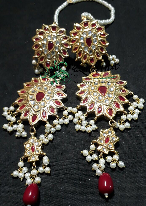 Meena 22k Gold plated Handcrafted Earrings SZER15