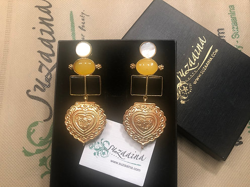 Zole 22k Gold plated Handcrafted Earrings