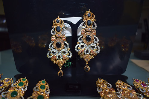Sabeen 22k Gold played Earrings