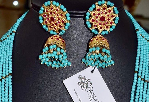 Abeer/ Reem 24k Gold plated Handcrafted Jhumkey.