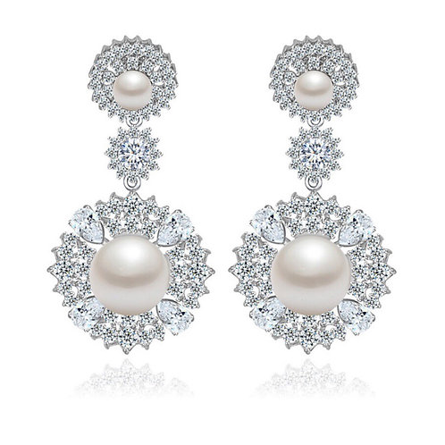 Jole Platinum and 18k Gold plated Luxury Earrings