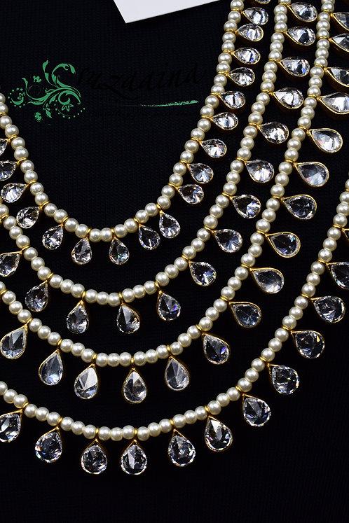 Harmony 24k Gold Plated real Zircon and Pearls Mala