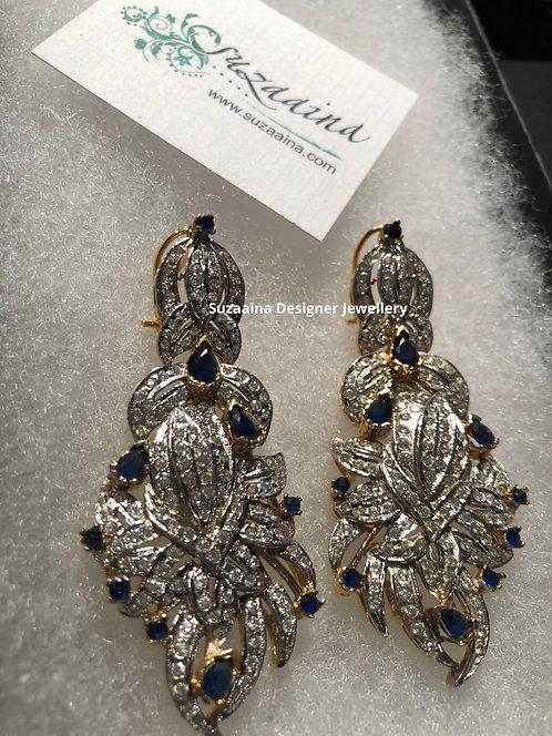 Ruha Rhodium plated Earrings.