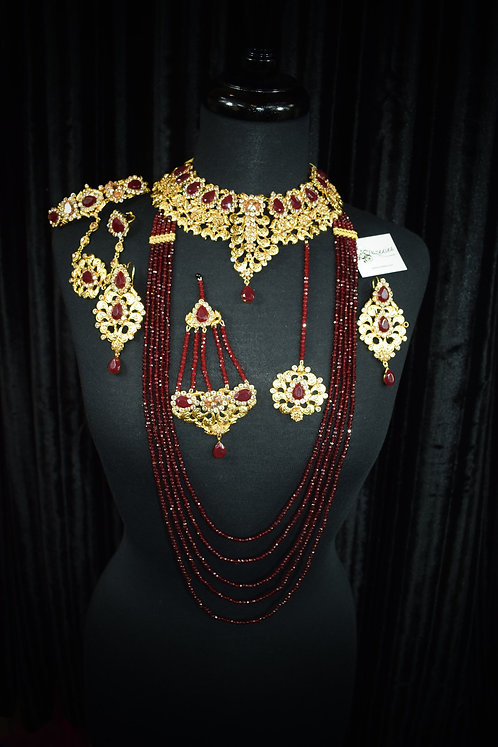 Samiya 22k Gold Plated Bridal Set