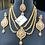 Thumbnail: Eenaya 22k Gold Plated Handcrafted Bridal Set