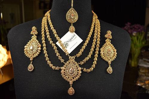 Eenaya 22k Gold Plated Handcrafted Bridal Set