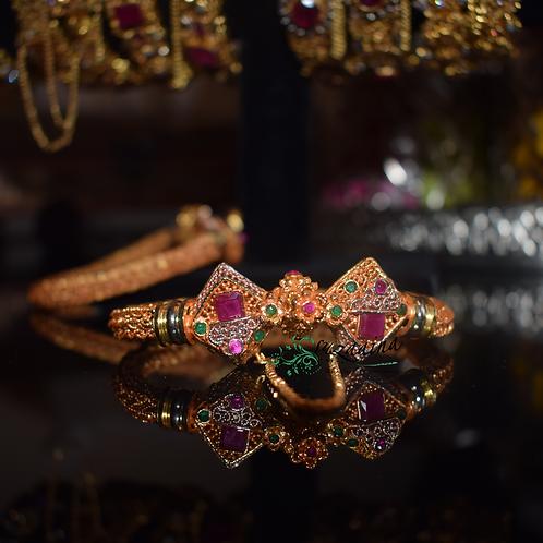 Diamond shape 24k Gold Plated Bangle