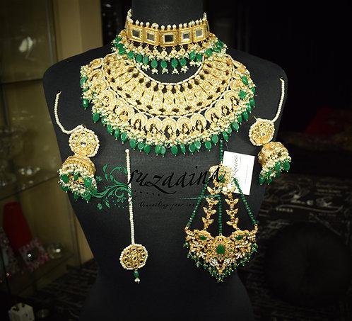 Jehanara 24k Gold plated Bridal Set.