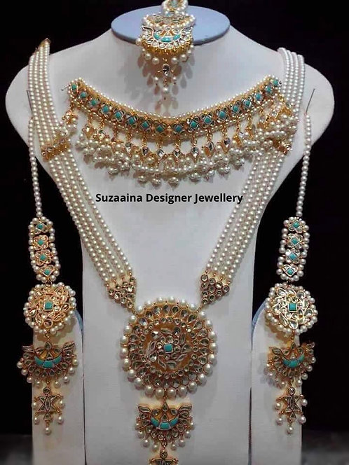 Hunza 22k Gold plated Handcrafted Bridal Set.