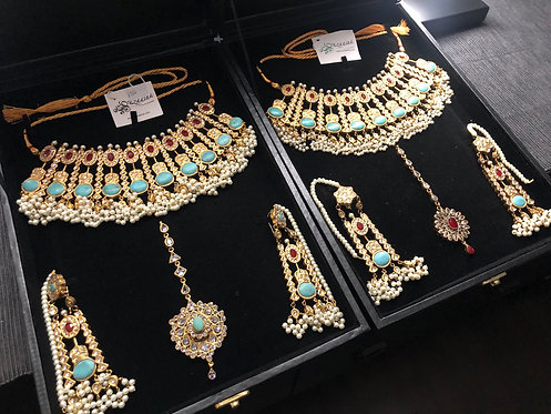 Morni 22k Gold plated Handcrafted Bridal Set