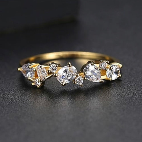 Gloria 14k Gold plated Zircon Ring.