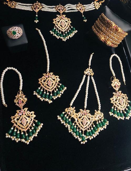 Mahroza 22k Gold plated Bridal Set