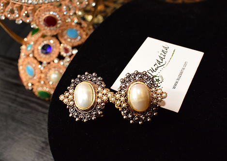 Rupla 22k Gold plated Handcrafted Earrings