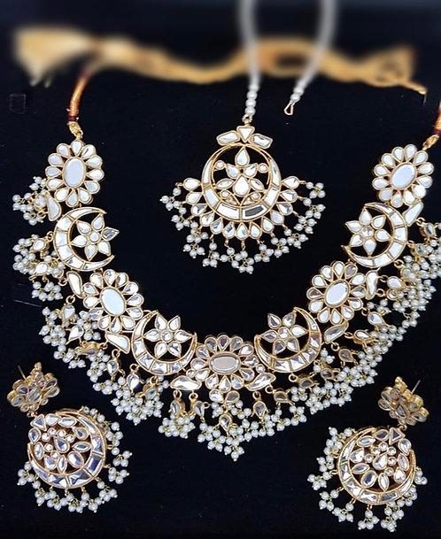 Hannah 22k Gold plated Bridal Set with Jhumer
