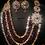 Thumbnail: Monalisa Gold plated Handcrafted Ruby and Kundan Set