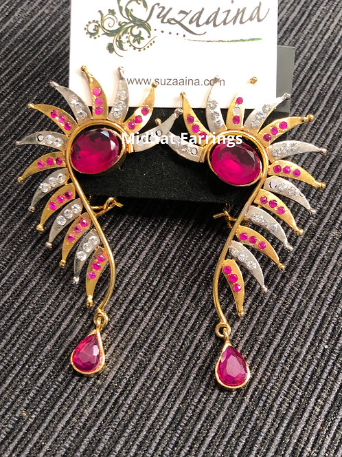 Minhat 22k Gold plated Handcrafted Earrings.