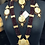 Thumbnail: Aira 22k Gold plated Handcrafted Thapa Kundan Bridal Set.