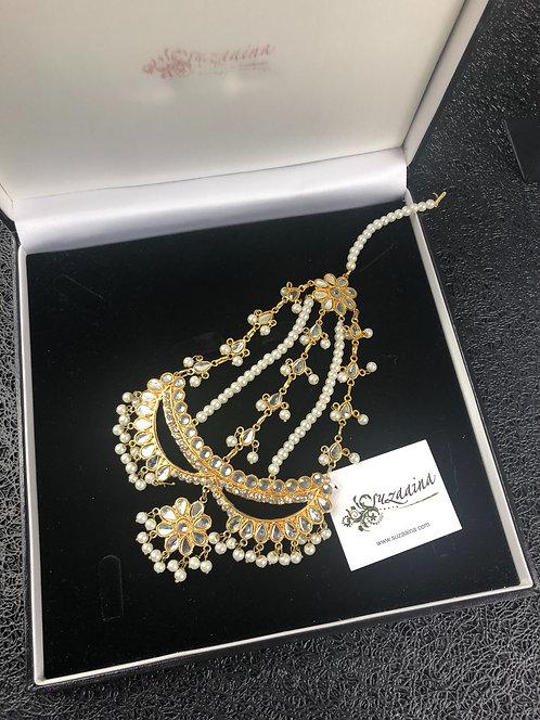 Habiba 22k Gold plated Kundan Jhumer