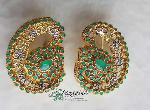Bjogi 22k Gold plated Handcrafted Earrings.
