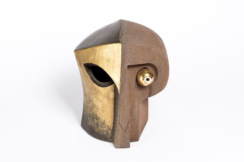 """Robert Baća, Apstraktna skulptura, serija """"Glave"""", 1995. godina"""
