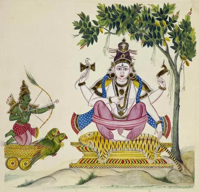 Lord Shiva and Kamadeva