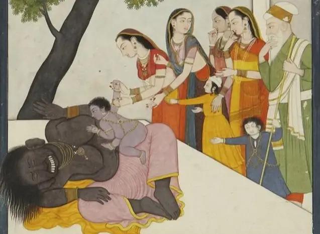 Krishna and Putana