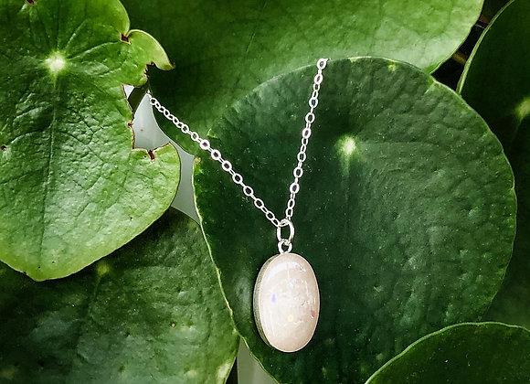 Large Oval Keepsake Necklace Sterling Silver