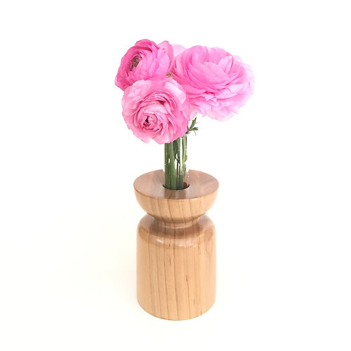 American Cherry vase - with glass test tube
