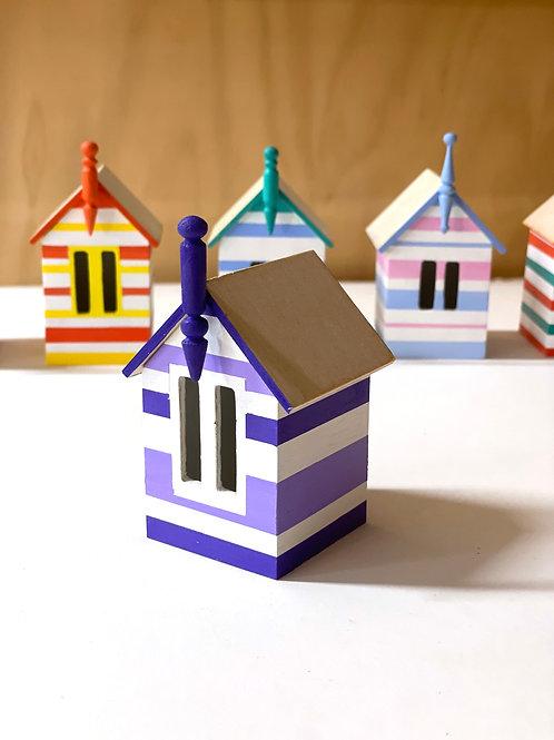 miniature beach box -purple