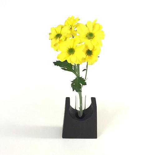 Ebonised Oak - test tube vase - home decor