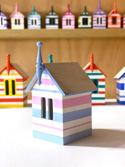 miniature beach box - blue & pink
