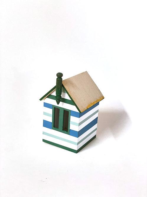 miniature beach box -green and blue