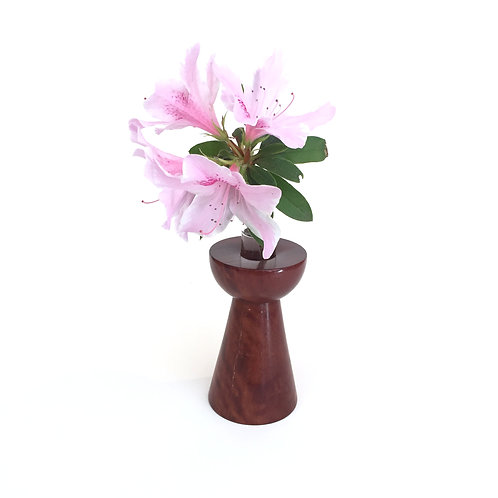 Medium Redgum vase - with glass test tube