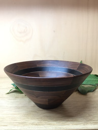 walnut & ebony bowl