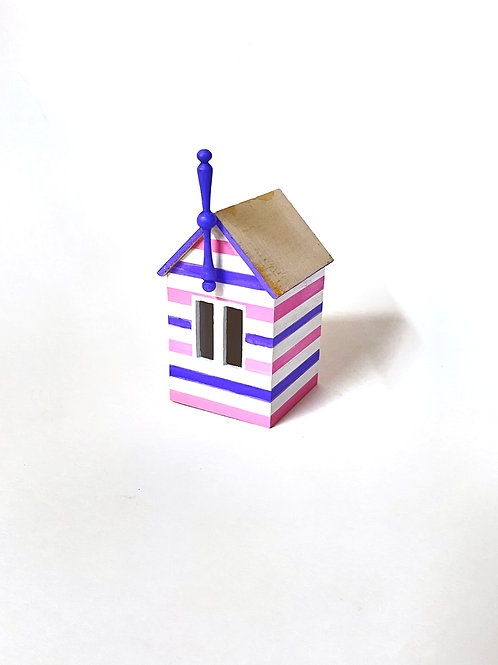 miniature beach box -purple and pink