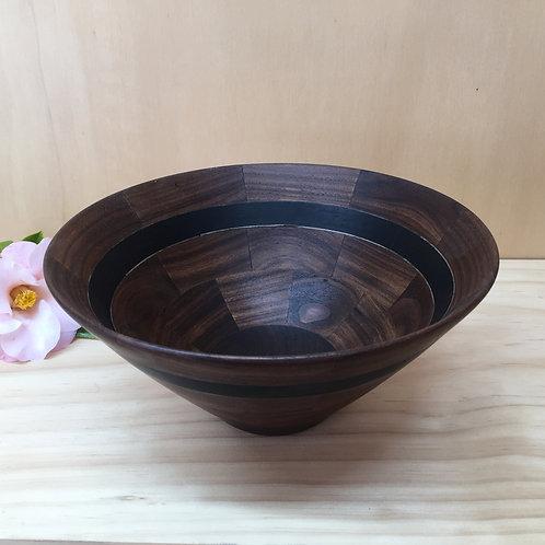 Segmented Wooden Bowl - Walnut & Ebony