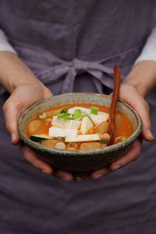 Korean Doenjang Soup + Rice