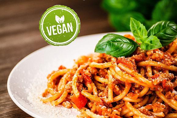 Pasta with tomato basil sauce - vegan