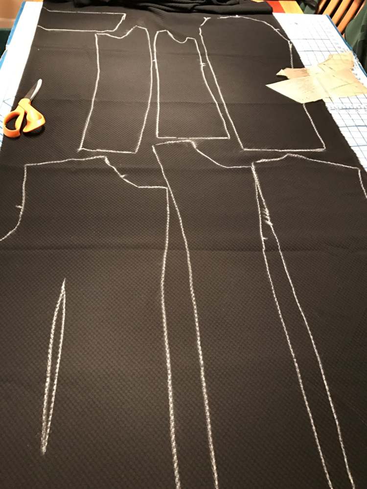 Traced Patterns on Fabric Ready to Cut Out