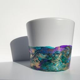 Medium Pot in 'Peacock'