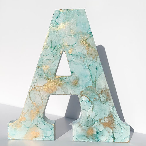 Custom Alcohol Ink Letters