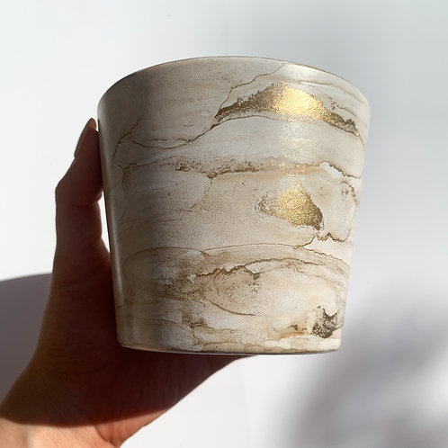Beige Small Alcohol Ink Pot