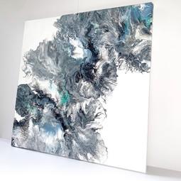 Dutch Pour on 40cm Canvas