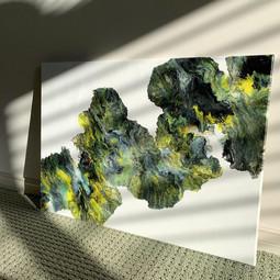 Large Acrylic Pour on Canvas