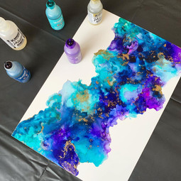 A4 Alcohol Ink Painting