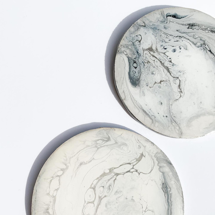 Marble-look Acrylic and Resin Coasters