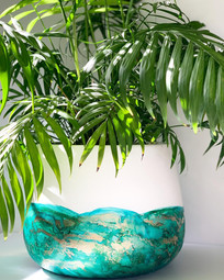 Large Rounded Pot in 'Rainforest'