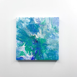 Mini Acrylic Pour on Canvas