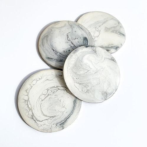 Marble-look Resin Coasters - Set of 4