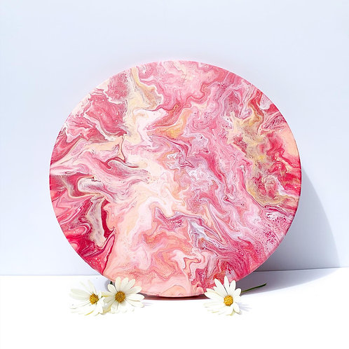 'Bloom' - Round Acrylic Pour